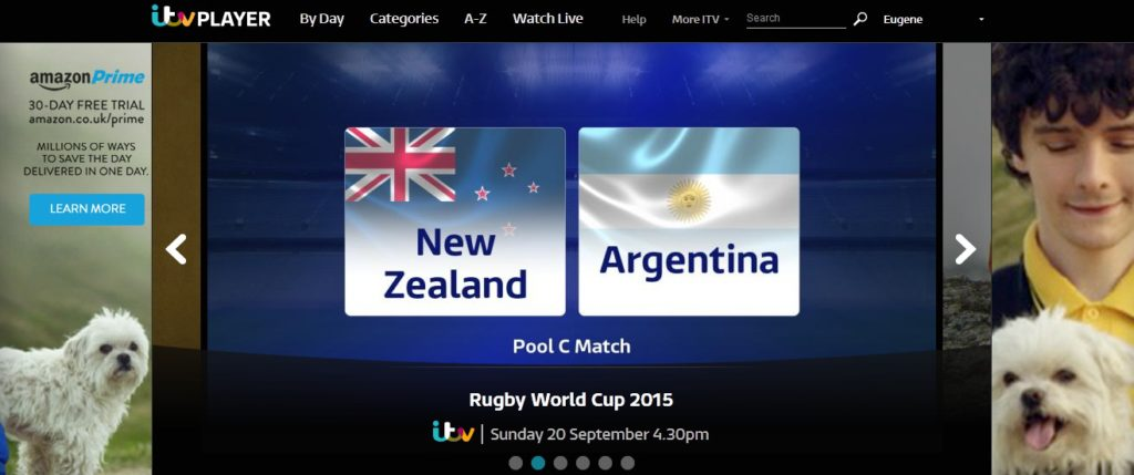 ITV Player - Rugby World Cup Free Streaming
